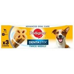 Pedigree Dentastix Twice Weekly Small Dog Dental Chew 3pce