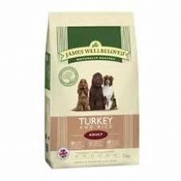 James Wellbeloved Adult Turkey & Rice Kibble Dog Food