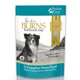 Burns Penlan Farm Egg Brown Rice & Veg Complete Moist Dog Food 6x400g