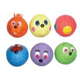 Good Boy Latex Face Ball Dog Toy