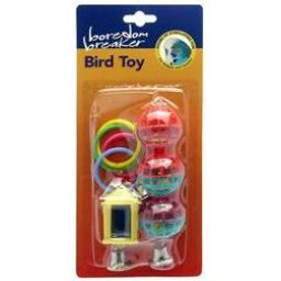 Boredom Breaker Budgie & Canary Toys Assorted Pk3