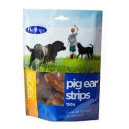 Hollings Pig Ear Strips 500g