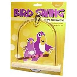 Happy Pet Wooden Bird Swing