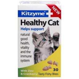 Kitzyme Healthy Cat With Cranberry & Zinc 30 Tablets