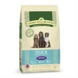 James Wellbeloved Duck & Rice Senior Kibble Dog Food