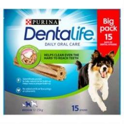 DENTALIFE Medium Dog Dental Chew 15 Stick
