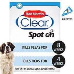 Bob Martin Flea Clear Extra Large Dog Spot On 1 tube