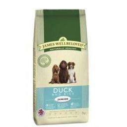 James Wellbeloved Junior Duck & Rice Kibble Dog Food