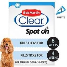 Bob Martin Flea Clear Medium Dog Spot On