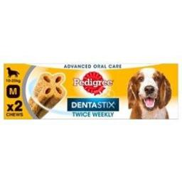 Pedigree Dentastix Twice Weekly Medium Dog Dental Chew 2pce