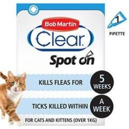 Bob Martin Flea & Tick Clear Cat Spot On