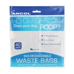 Ancol Bio-degradable Waste Bags 40pc
