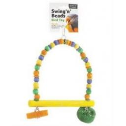 Ruff 'N'Tumble Swing 'N' Beads Bird Toy