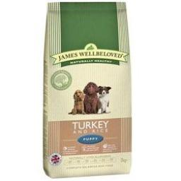 James Wellbeloved Puppy Turkey & Rice Kibble Dog Food