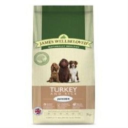James Wellbeloved Junior Turkey & Rice Kibble Dog Food