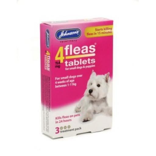 Johnsons 4fleas Tablets Small Dogs & Puppies