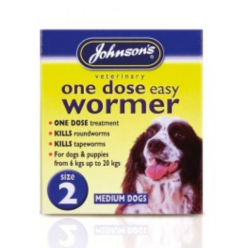 Johnsons Easy Dose Wormer Size 2