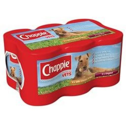 Chappie Favourites Dog Food 6x412g