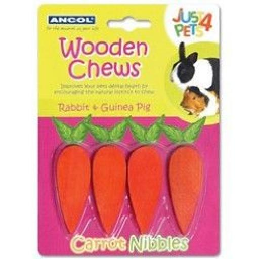 Wooden Chew Carrot Nibbles