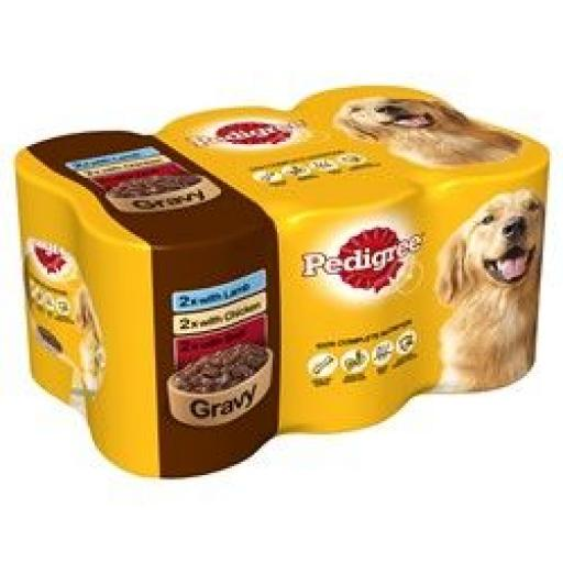 Pedigree Adult Dog Food Tins Mixed Selection in Gravy 6x400g
