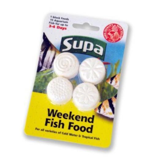 Supa Aquarium Weekend Fish Food 4x6g