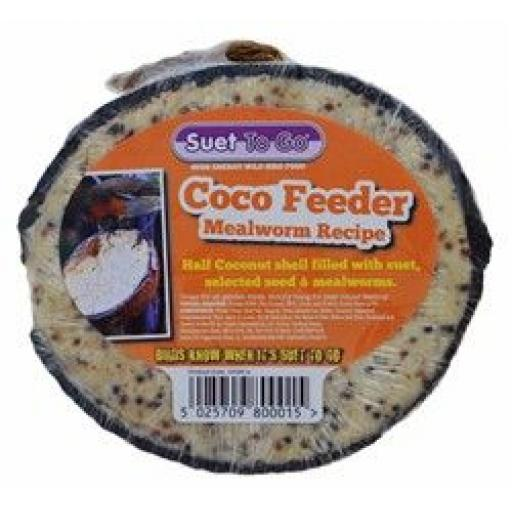 Suet To Go Mealworm Half Coconut
