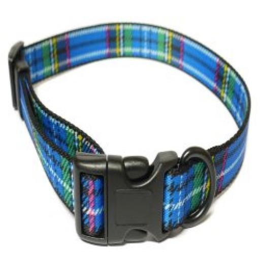 Ancol Nylon Adjustable Tartan Dog Collar