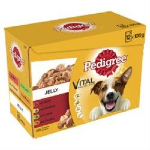 Pedigree Dog Pouch Favourites in Jelly 12 x 100g