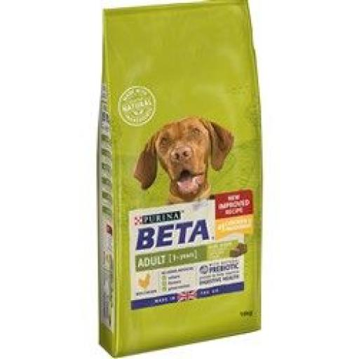 Beta Adult Chicken Complete Dog Food 14kg now £30.00