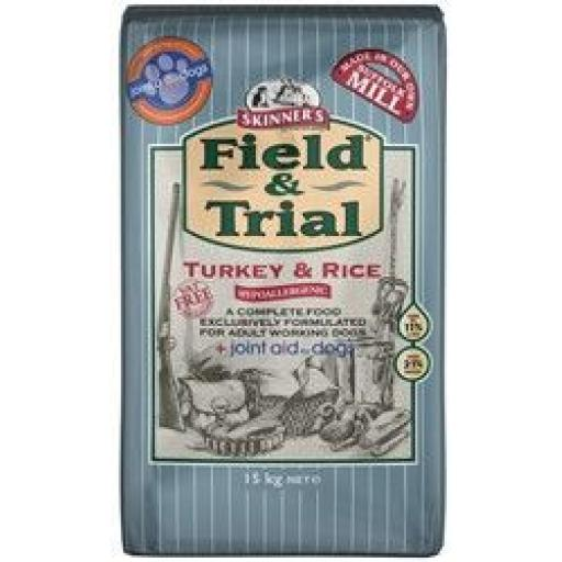 Skinners Field & Trial Turkey & Rice Hypoallergenic Dog Food 15kg