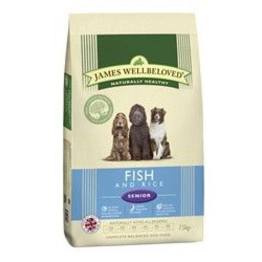 James Wellbeloved Senior Ocean White Fish & Rice Kibble Dog Food