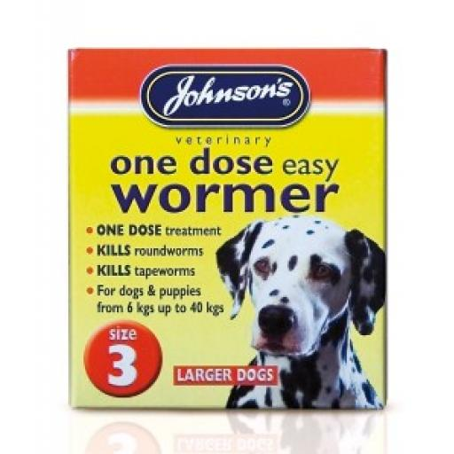 Johnsons Easy Dose Wormer Size 3