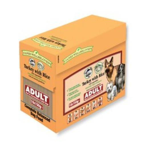 James Wellbeloved Adult Pouch Turkey & Rice Dog Food 10x150g
