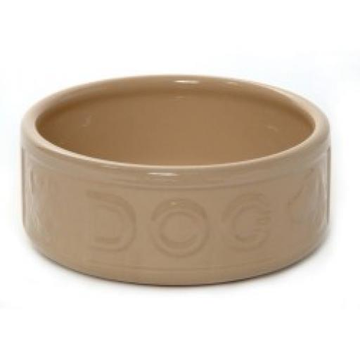 Rayware All Cane Lettered Dog Bowl