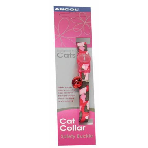 Ancol Safety Buckle Camoflage Cat Collar