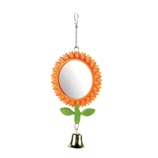 Classic Double Sided Sunflower Mirror With Bell