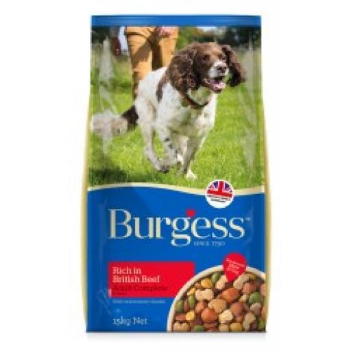 Burgess Supadog Adult Beef Dry Dog Food 15kg