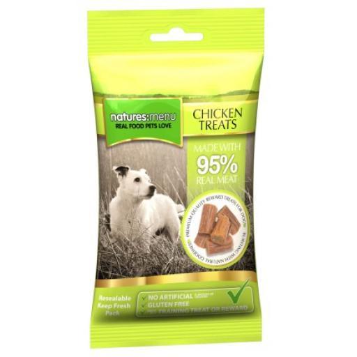 Natures Menu Chicken Dog Treats 60g