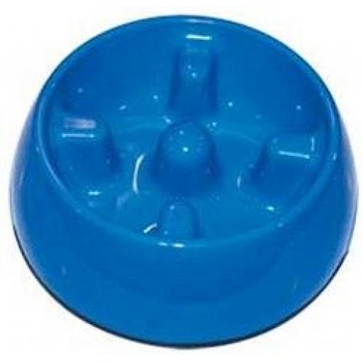 Dogit Go-Slow! Anti-Gulping Dog Dish Blue