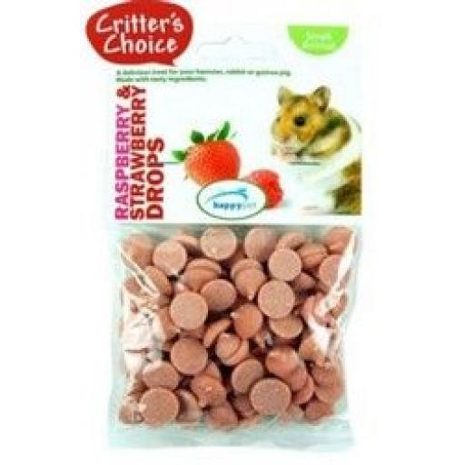 Critter's Choice Raspberry & Strawberry Buttons 75g