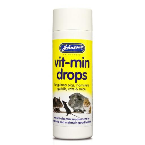 Johnsons Hamster & Guinea Pig Vit-Min Drops 100ml