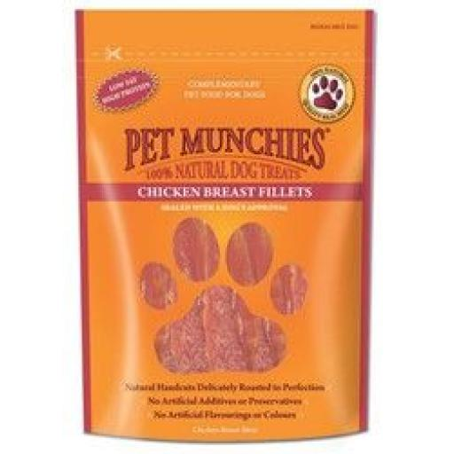 Pet Munchies Chicken Breast Fillets 100g