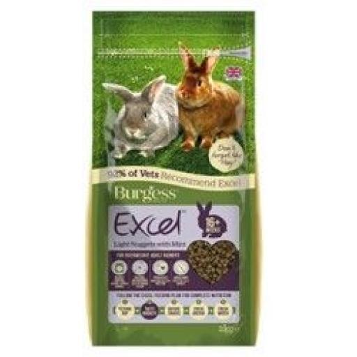 Burgess Excel Light Rabbit Nuggets 2kg
