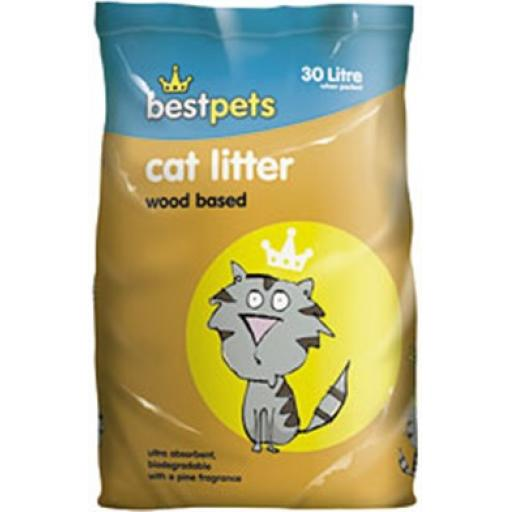 Bestpets Cat Litter Wood based 15L & 30L