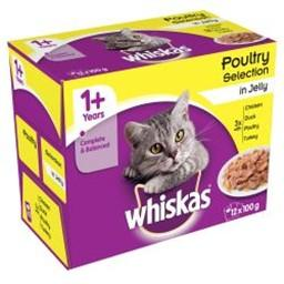 Whiskas 1+ Poultry Selection In Jelly Pouch 12 x 100g
