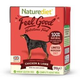 Naturediet Feel Good Chicken & Lamb Adult Dog Food 390g
