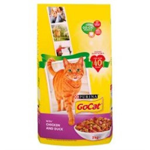 Go-Cat Chicken & Duck Complete Adult Cat Food 2kg + 10kg