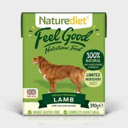 Naturediet Feel Good Lamb Adult Dog Food 390g