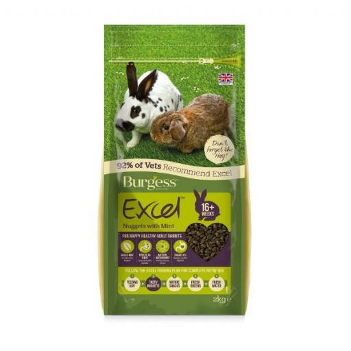 Burgess Excel Rabbit Nuggets With Mint 10kg NOW £17.99