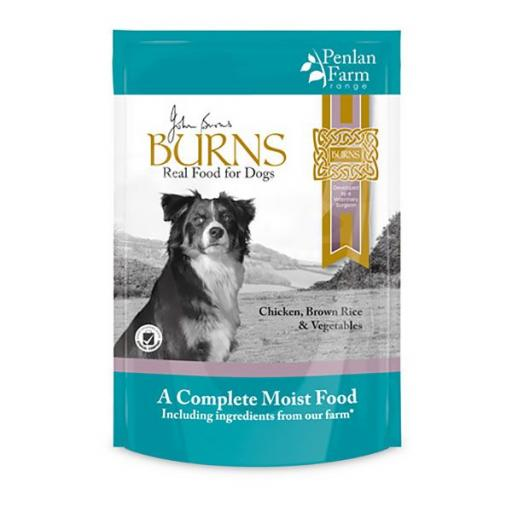 Burns Penlan Farm Chicken Rice & Veg Complete Moist Dog Food 6x400g